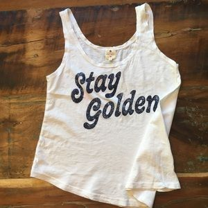 *NWT* Sundry Stay Golden Tank Top - Pima Cotton
